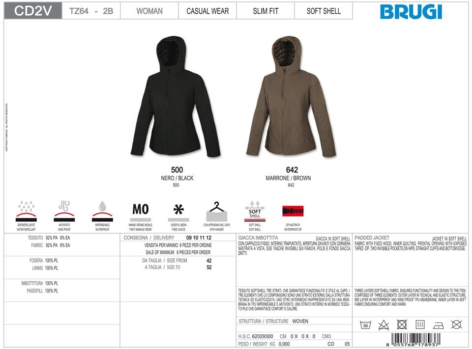 Brugi | PADDED JACKET - CD2V TZ64 2B